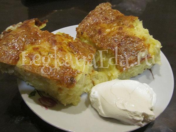 запеканка из сырого тертого картофеля