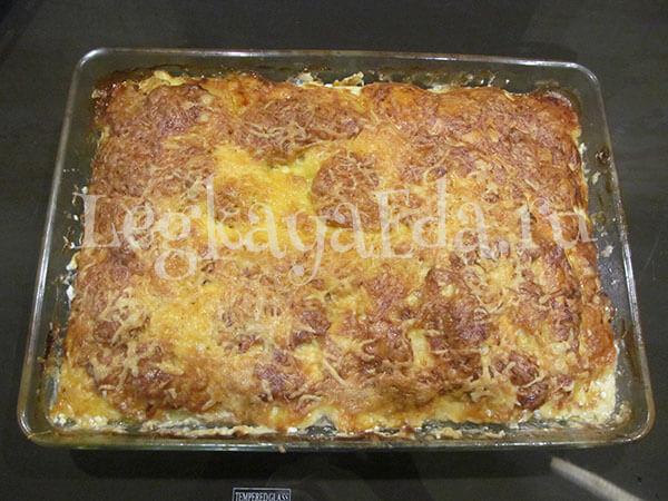 картофель с фаршем в духовке под сыром